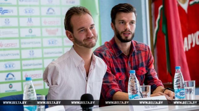 Ник Вуйчич встретился с брестчанами