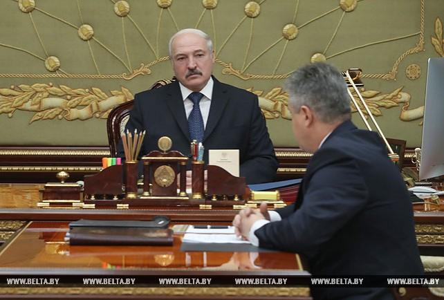 Лукашенко принял с докладом директора Национального центра законодательства и правовых исследований