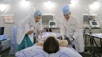 Медицинский отряд специального назначения действует на Борисовском полигоне