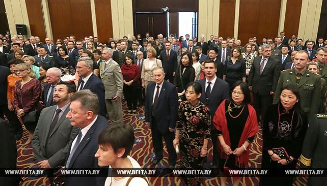 Торжественный прием по случаю Дня 68-летия образования Китайской Народной Республики в Минске