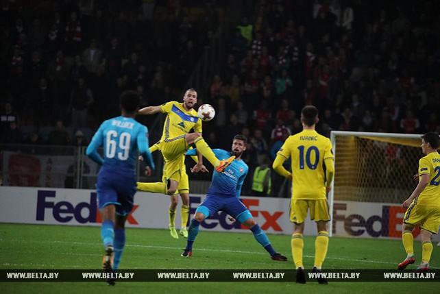 """Футболисты БАТЭ проиграли """"Арсеналу"""" в домашнем матче Лиги Европы"""