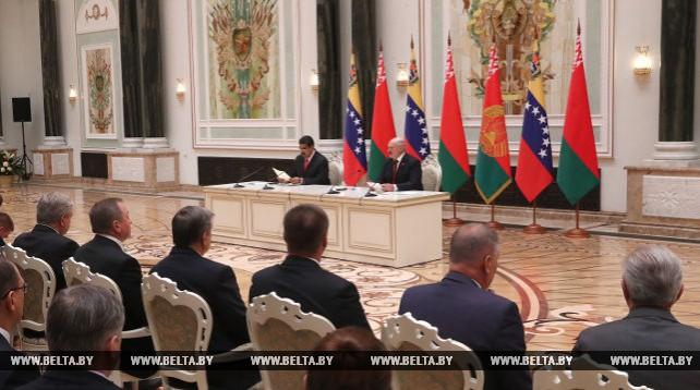 Александр Лукашенко и Николас Мадуро провели пресс-конференцию по итогам переговоров