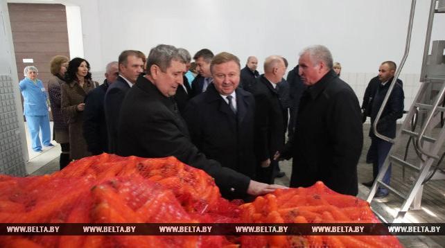 Кобяков ознакомился с развитием овощной отрасли Гродненской области