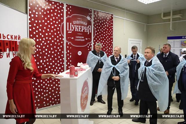 Кобяков посетил Скидельский сахарный комбинат