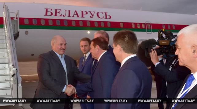 Лукашенко прибыл с рабочим визитом в Сочи