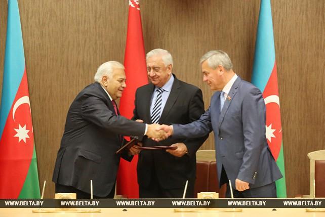 Беларусь и Азербайджан закрепили намерение всестороннего сотрудничества на парламентском уровне
