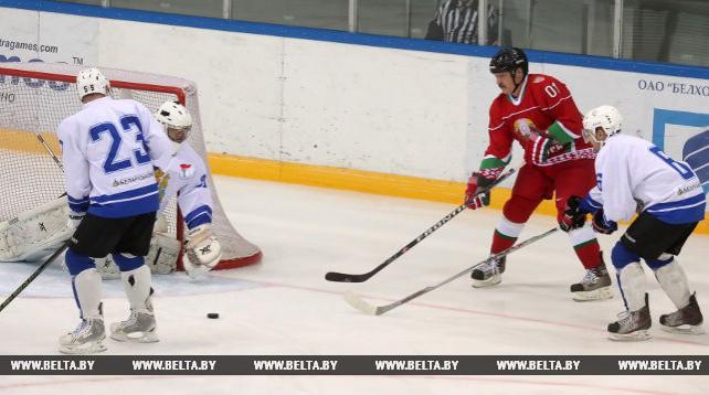 Команда Президента Беларуси с победы стартовала в XI Республиканских соревнованиях по хоккею среди любителей