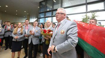 Белорусская делегация вернулась из Сочи в Минск после XIX Всемирного фестиваля молодежи и студентов