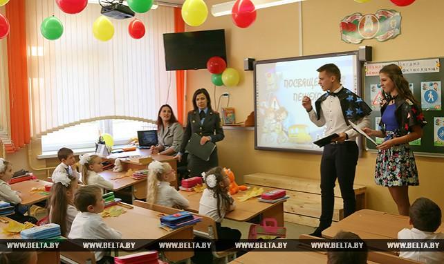 """Госавтоинспекция Московского района столицы провела акцию """"Все вместе за безопасность детей на дорогах!"""""""
