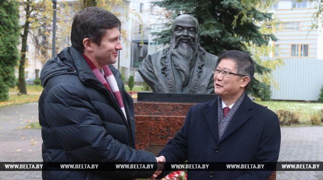 Церемония открытия бюста философа Конфуция состоялась в Минске