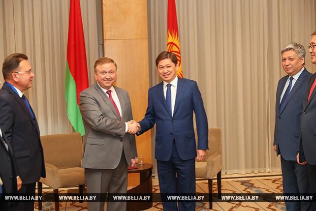 Андрей Кобяков встретился с премьер-министром Кыргызстана Сапаром Исаковым