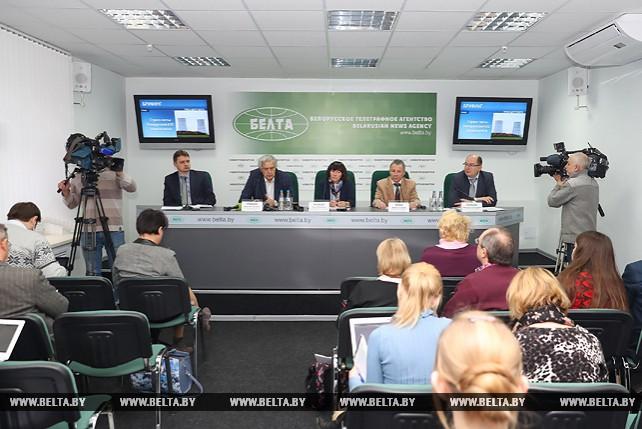 """Брифинг на тему """"Стресс-тесты Белорусской АЭС: первые итоги"""" прошел в пресс-центре БЕЛТА"""