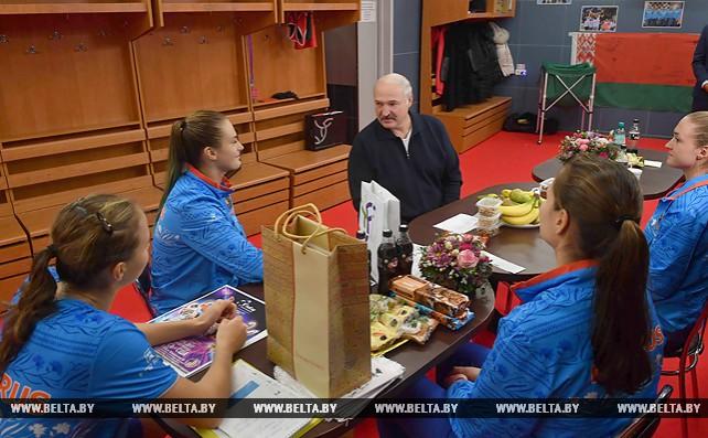 Лукашенко встретился с белорусским теннисистками