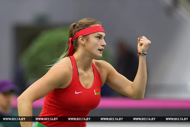 Арина Соболенко победила Слоан Стивенс и сравняла счет в финале FedCup-2017 - 1:1