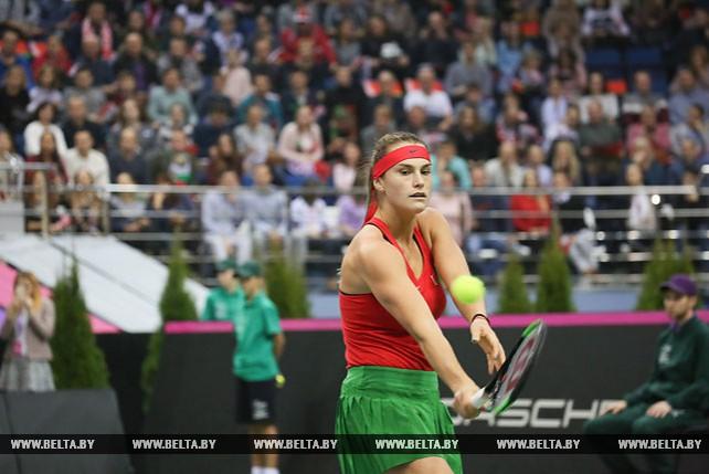 Арина Соболенко уступила Коко Вандевеге в третьем матче финала Кубка Федерации Беларусь - США