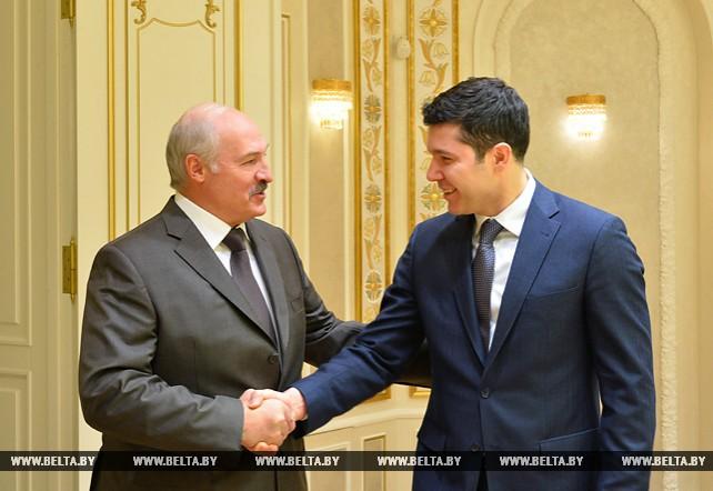 Лукашенко встретился с губернатором Калининградской области России Антоном Алихановым