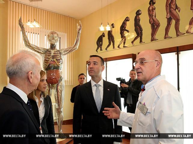Заместитель председателя Витебского облисполкома Владимир Белоус встретился с министром здравоохранения Словакии Томашем Друкером