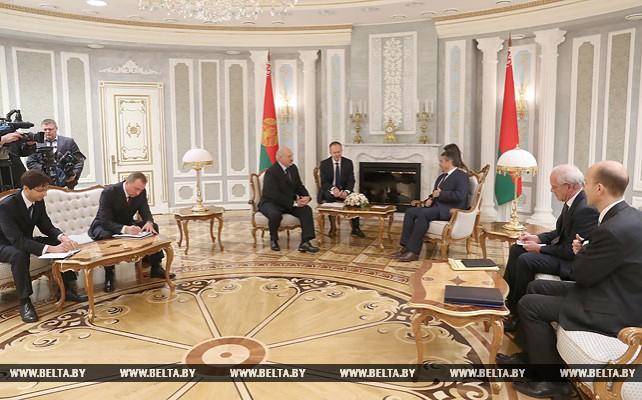 Александр Лукашенко встретился с вице-канцлером, федеральным министром иностранных дел ФРГ Зигмаром Габриэлем