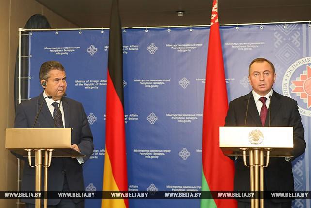 Владимир Макей встретился с вице-канцлером, федеральным министром иностранных дел ФРГ Зигмаром Габриэлем