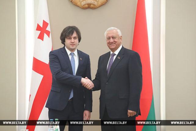 Мясникович встретился с парламентской делегацией Грузии