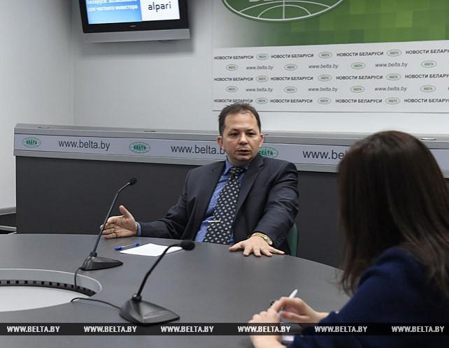 Онлайн-конференция о возможностях и перспективах развития финансового рынка в Беларуси в пресс-центре БЕЛТА