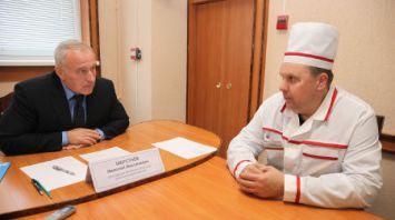 Шерстнев посетил Оршанский мясоконсервный комбинат