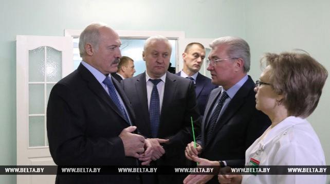 Лукашенко посетил с рабочей поездкой Буда-Кошелевский район