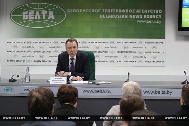 Пресс-конференция Владимира Улаховича в пресс-центре БЕЛТА