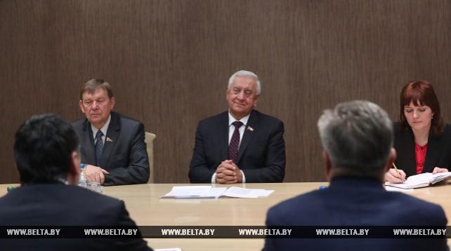 Мясникович встретился с вице-спикером парламента Молдовы