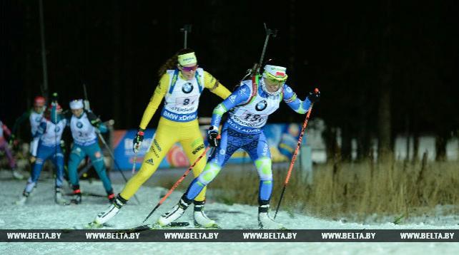 Белорусские биатлонисты финишировали одиннадцатыми в смешанной эстафете этапа КМ в Швеции