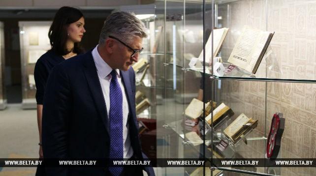 Делегаты Парламентской ассамблеи ЦЕИ посетили Национальную библиотеку