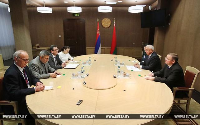 Мясникович встретился с вице-спикером парламента Сербии