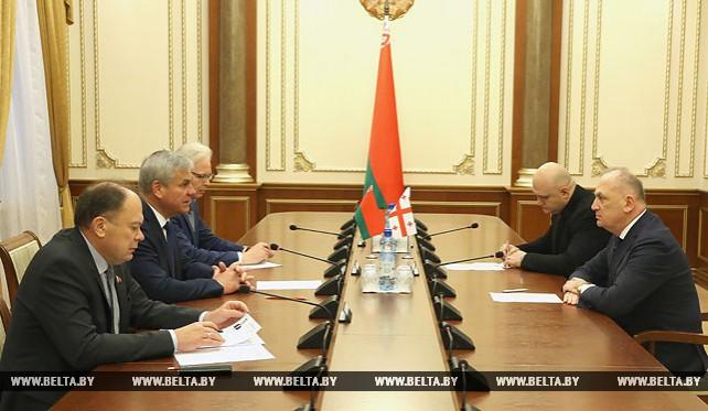 Андрейченко встретился с послом Грузии в Беларуси