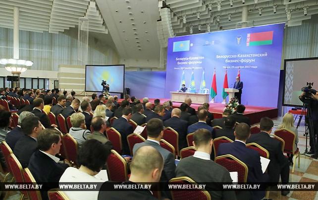 Около 400 участников собрал белорусско-казахстанский бизнес-форум в Минске