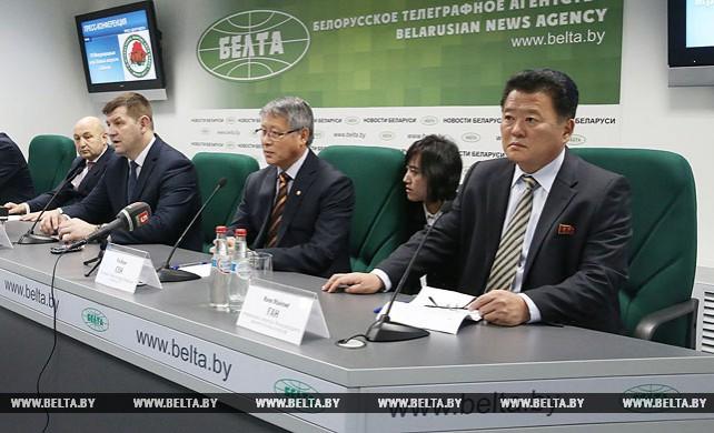 Пресс-конференция о Международных играх боевых искусств по таэквондо в Минске прошла в пресс-центре БЕЛТА