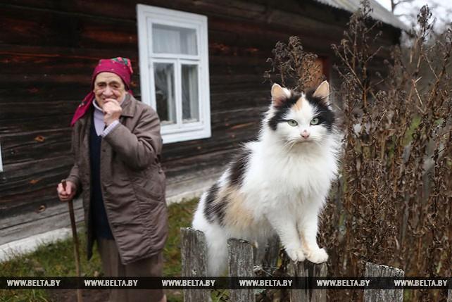 Ванда Вороницкая - единственный житель д. Мостки Ивьевского района