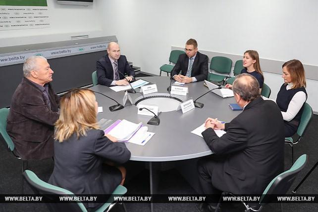 Онлайн-конференция о подготовке кадров для БелАЭС прошла в пресс-центре БЕЛТА