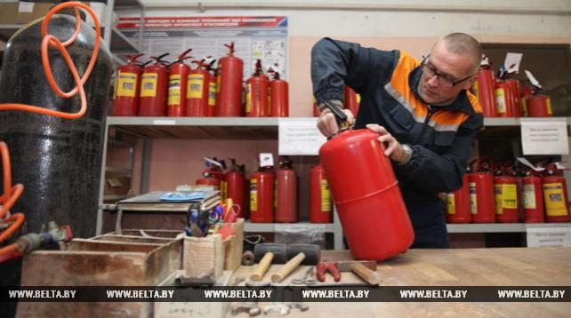 Могилевский комбинат противопожарных работ оказывает услуги населению по перезарядке огнетушителей