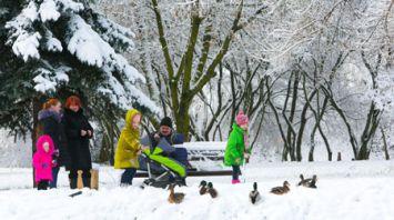 Зима в Минске