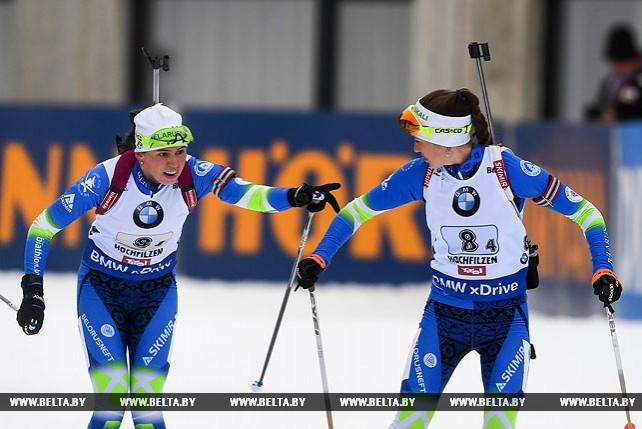 Белорусские биатлонистки заняли 7-е место в эстафете на этапе Кубка мира