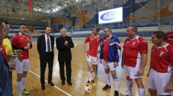 Команда БелТПП сыграла с ветеранами белорусского футбола
