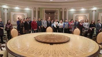 Студенты и преподаватели БГАМ побывали во Дворце Независимости