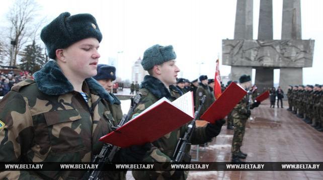 Новобранцы 103-й отдельной гвардейской воздушно-десантной бригады приняли присягу в Витебске