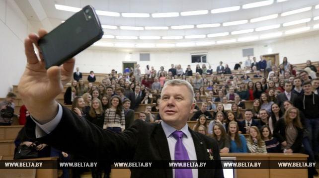 Космонавт Новицкий встретился со студентами Академии управления