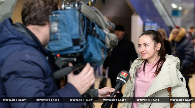 Ирина Кривко прилетела в Беларусь