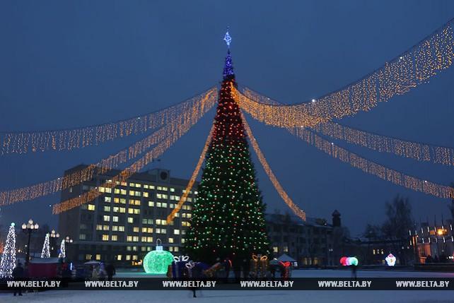 Праздничная иллюминация в Гродно