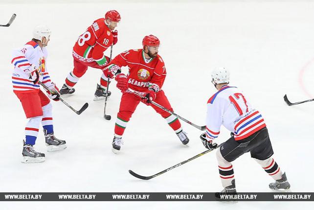 Хоккейная команда Президента одержала четвертую победу в XI Республиканском любительском турнире