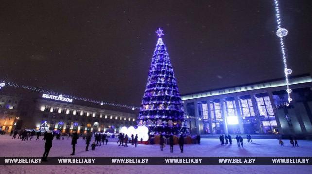Праздничные огни в Минске