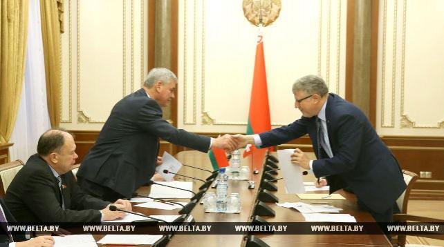 Андрейченко встретился с главой отделения посольства Швейцарии в Беларуси