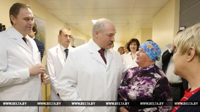 Лукашенко посетил Минский городской клинический онкологический диспансер